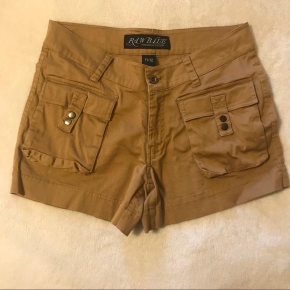 Pants - Raw Blue Premium Denim Khaki short square pocket